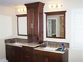 Bathroom Tower Cabinet Bathroom Vanities With Towers Vanity With Storage Bathroom Design