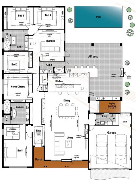 Modern Bathroom Plans by Floor Plan Friday 4 Bedroom 3 Bathroom With Modern