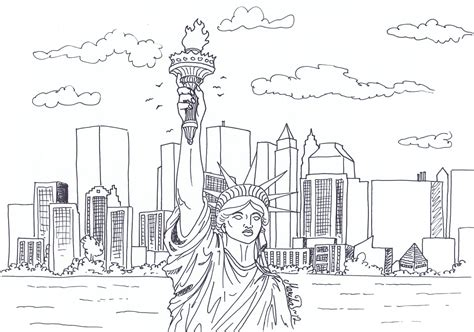 New York Coloring Pages colouring new york by yikyik on deviantart