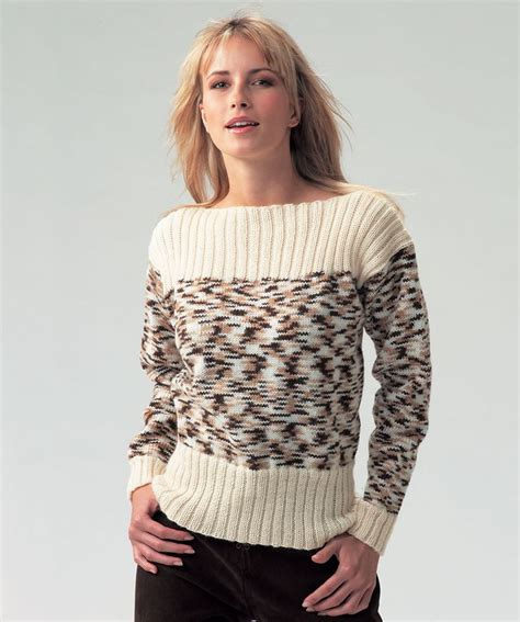 color neck pattern boat neck ladies jumper free knitting pattern in