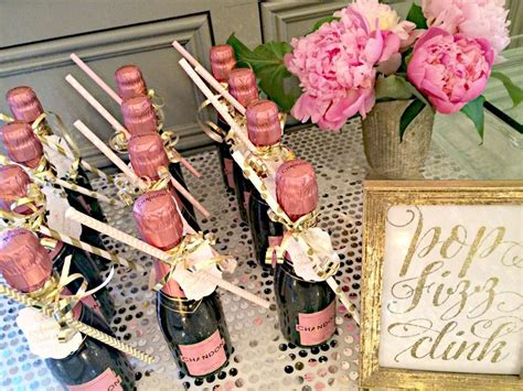 bubbly bar blush gold bridal wedding shower party