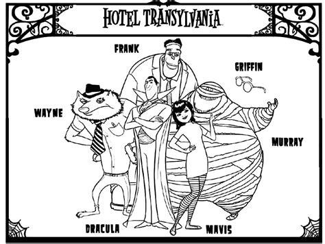 Hotel Transylvania Dibujos Para Imprimir Y Colorear Lamina 2 Percy The Coloring Pages