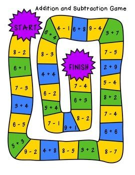 addition board games ks1 printable addition and subtraction board games by the busy class tpt