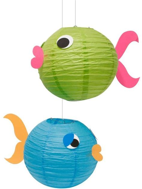 How To Make A Fish Out Of Paper Plate - 1000 ideas about fish lanterns on fish