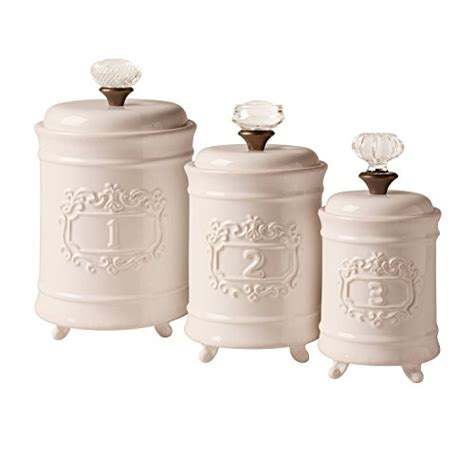 kitchen canisters online mud pie 4931002 kitchen canister set of 3 white buy