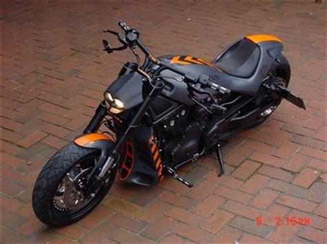 Carbonfolie F R Motorrad Auspuff by Umgebautes Motorrad Harley Davidson V Rod Street Rod Vrscr