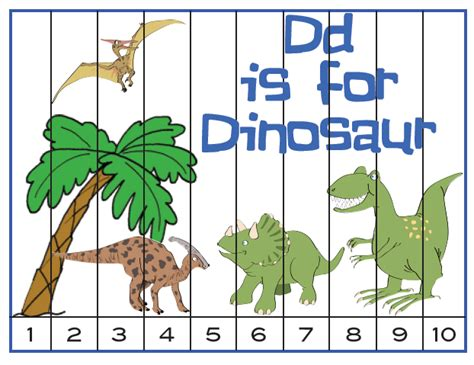 printable dinosaur puzzle free for kids dinosaur numeric sequence puzzle