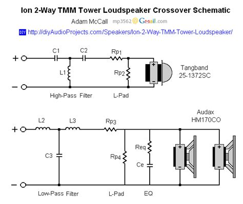 Box 3 Way Professional Active Crossover ion diy 2 way tmm tower loudspeaker project