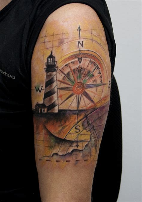lighthouse compass by tattoozone on deviantart