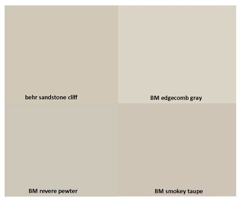 benjamin edgecomb gray vs revere pewter brown hairs
