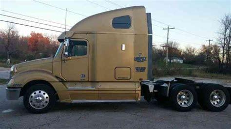 columbia  tractor truck long conventional sleeper semi trucks