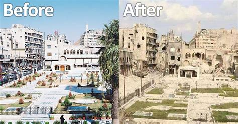 Syria Before And After | 26 before and after pics reveal what war has done to syria