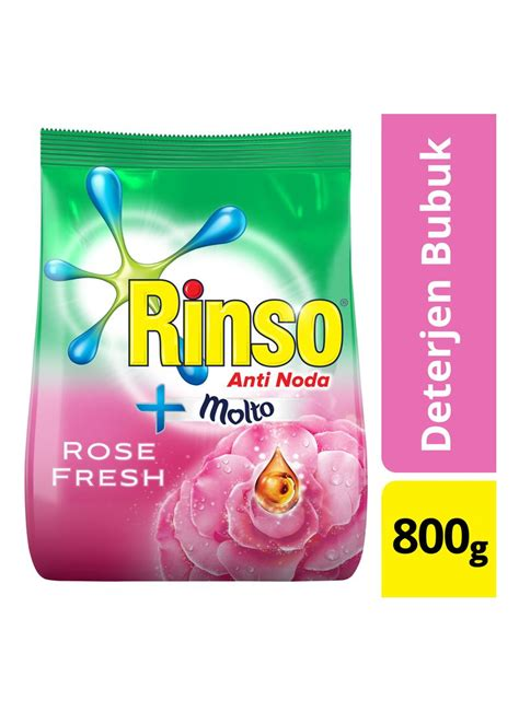 B19 Rinso Anti Noda 800g rinso deterjen powder molto ultra bag 800g klikindomaret