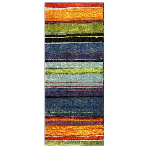 mohawk home rainbow multi 6 ft x 9 ft area rug 512712 mohawk home rainbow multi 2 ft x 5 ft runner 207298