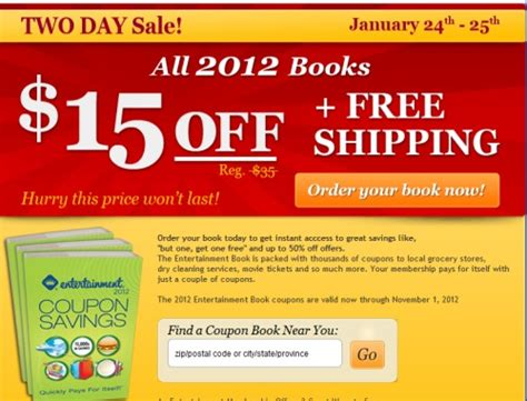 canadian daily deals entertainment 2012 coupon books 15