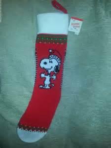 Ambassador snoopy christmas stocking 1958 peanuts knitted new ebay