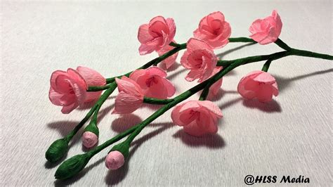 How To Make Cherry Blossoms Out Of Paper - how to make easy beautiful cherry blossom paper flower diy