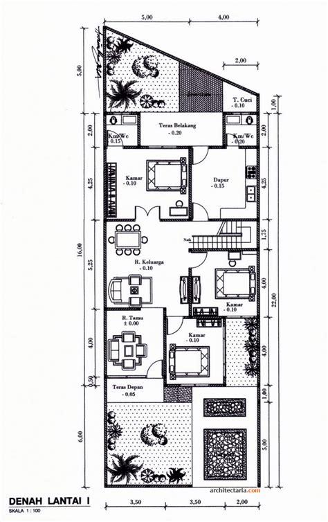 denah layout rumah desain rumah bergaya modern eklektik pt architectaria