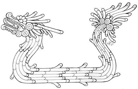 quetzalcoatl coloring page stylized quetzalcoatl lineart by heatherbeast on deviantart