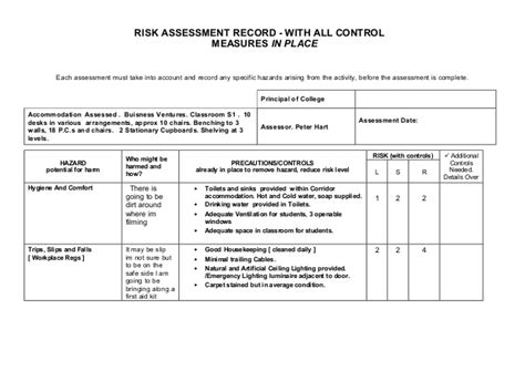 Risk Assessment Pressure Washing Risk Assessment Template