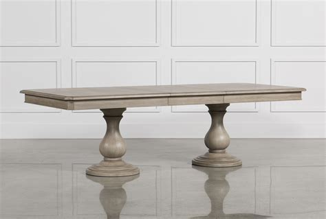 Caira Extension Pedestal Dining Table   Living Spaces