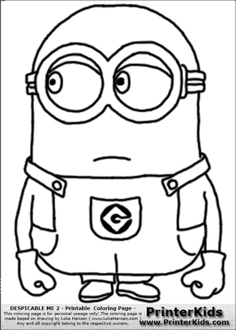 minion coloring pages easy despicable me minions coloring pages in color diy