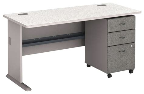 Computer Desk With File Drawer by Bush Series A 60 Quot Computer Desk With 3 Drawer File Cabinet