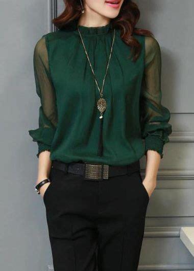 30753 Chiffon Blouse Green lantern sleeve green chiffon blouse modlily usd 22 80