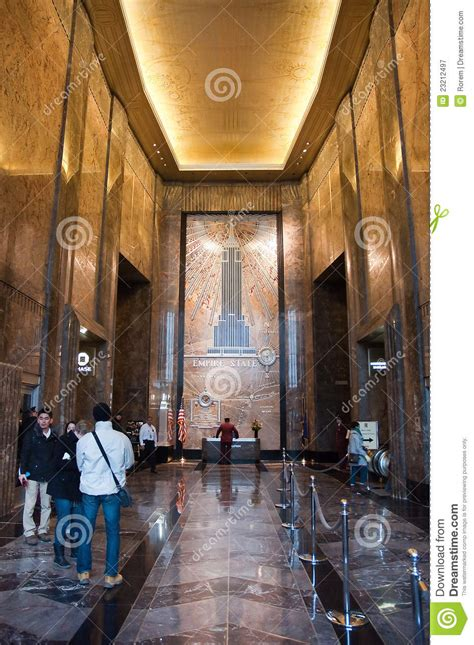 Empire State Building Interior by Empire State Building Interior Editorial Photography