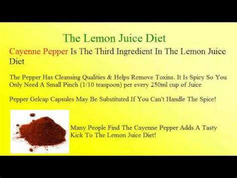 Lemon Detox Diet Average Weight Loss by Effect Of Lemon Juice On Weight Loss