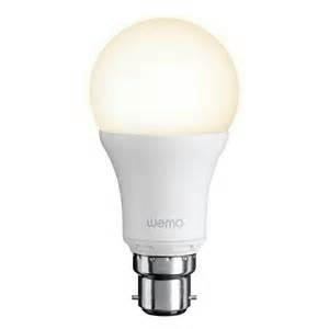 Belkin Wemo Smart Bayonet Fit Led Single Light Bulb Led Light Bulb Uk