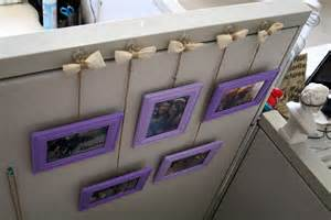 How To Hang Picture Frames That Have No Hooks cubicle makeover part one 183 randi with an i