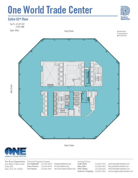 world trade center floor plan one world trade center