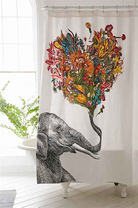 rococcola happy elephant shower curtain rococcola happy elephant shower curtain urban outfitters