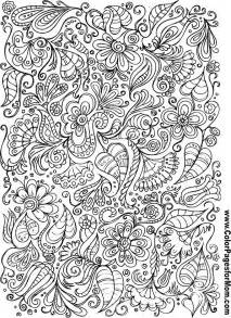 doodles 106 advanced coloring page