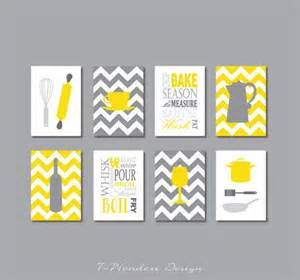 fabulous modern kitchen print set in yellow and shades