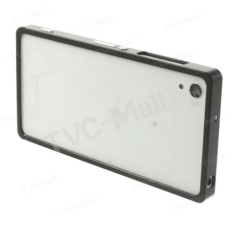 Aluminium Bumper Xperia Z2 Slide aluminium alloy slide on bumper frame for sony xperia z2 d6503 d6502 d6543 black tvc mall