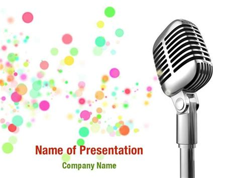 microphone template microphone powerpoint templates microphone powerpoint