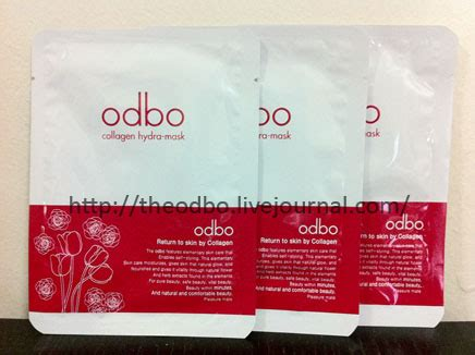 The Odbo Collagen Hydra Mask the odbo skincare products the odbo
