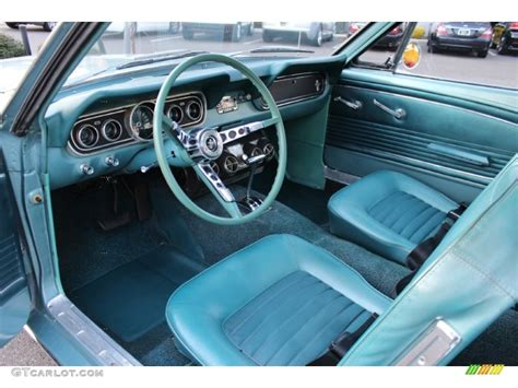 1966 Ford Mustang Interior by Turquoise Interior 1966 Ford Mustang Coupe Photo 57612931