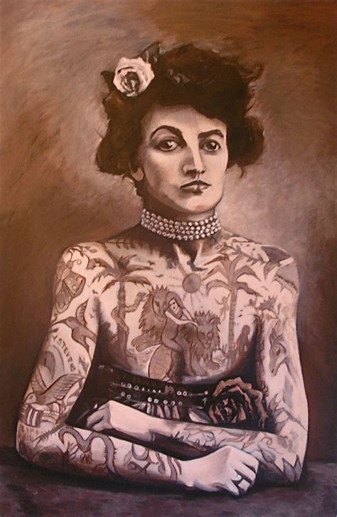 the tattooed lady vintage tattooed wallpaper