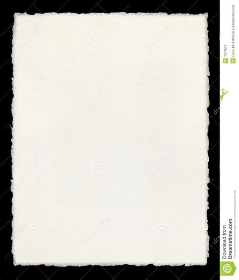Paper Deckle - deckle edged paper stock image image of blank