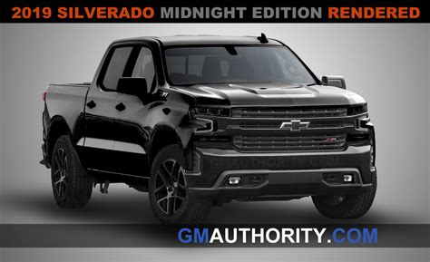 2019 Gmc Rendering by 2019 Silverado Midnight Edition Imagined In New Photos