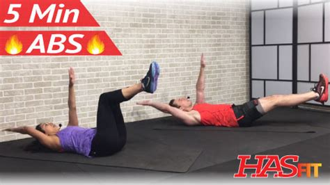 5 minute abs workout hasfit free length workout
