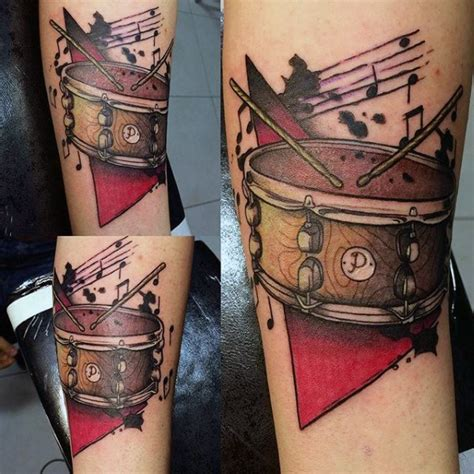 drum tattoo 70 drum tattoos for musical instrument design ideas