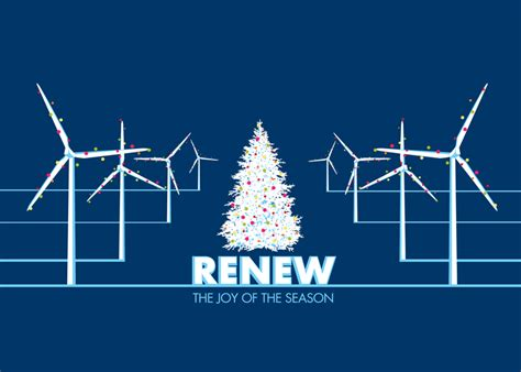 christmas windmills christmas card wind energy christmas