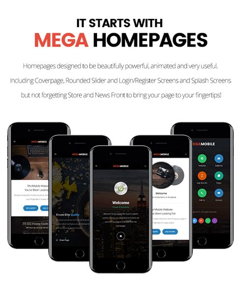 Megamobile Phonegap Cordova Mobile App By Enabled Codecanyon Cordova Mobile App Template