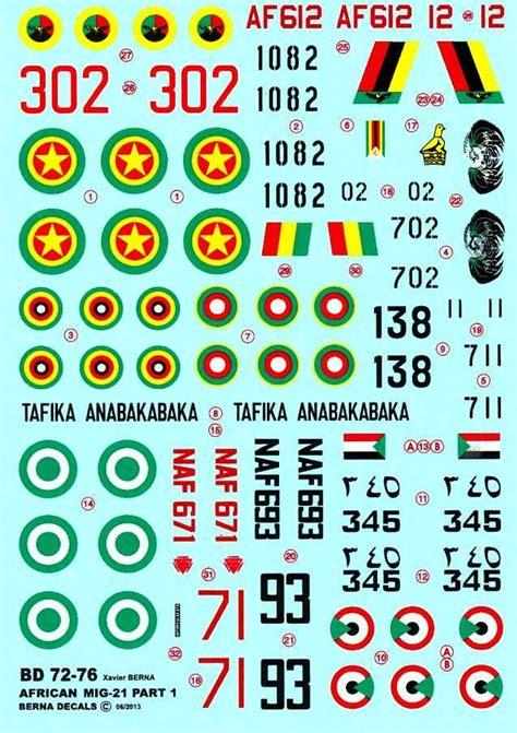 Berna Set Black Mininos berna decals 1 72 mikoyan mig 21 fishbed fighter air forces part 1 ebay
