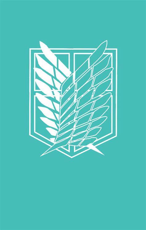 Kaos Anime Snk Recon Corps Navy attack on titan logo wallpaper wallpapersafari