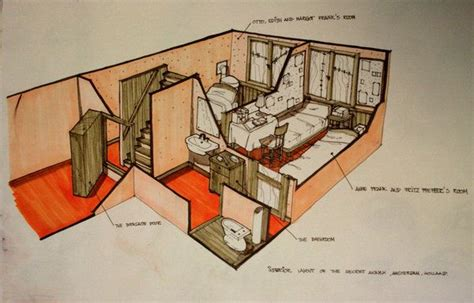 anne frank secret annex floor plan a good layout of anne s house sims pinterest